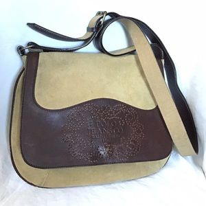 Polo Ralph Lauren Leather Messenger Crossbody Bag